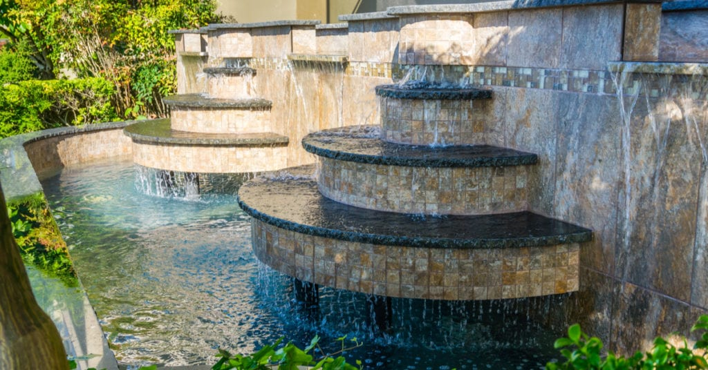 Refreshing Water Feature Accents, Tiered Fountain