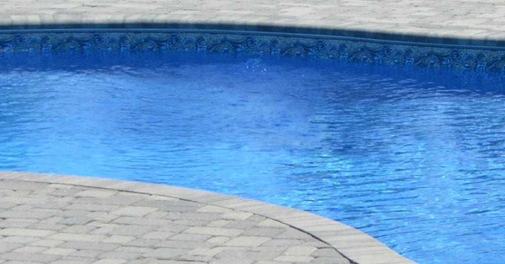 4 Main Types of Pool Coping, pool coping pavers