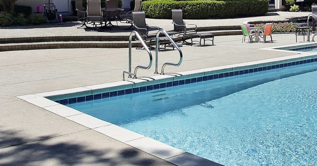 4 Main Types of Pool Coping, Concrete pool coping