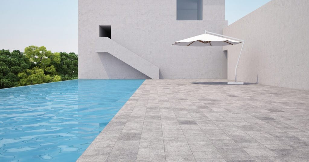 4 Main Types of Pool Coping, natural stone pool coping