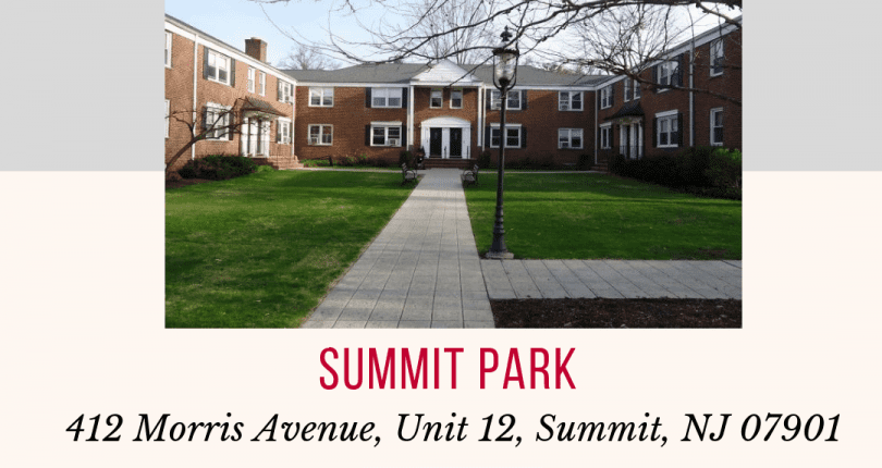 412 Morris Avenue, Unit 12, Summit, NJ 07901