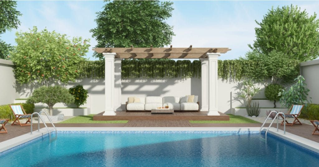 Bee Cave TX Poolside Pergola with Deck Ideas