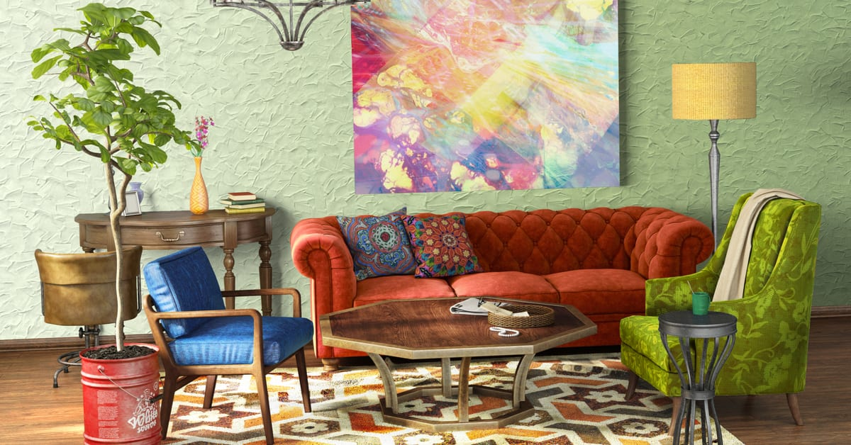 tips for eclectic interior design using color