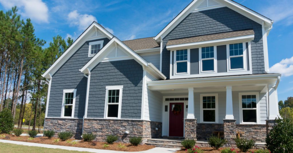 Trending Exterior House Colors for 2021, bluish gray
