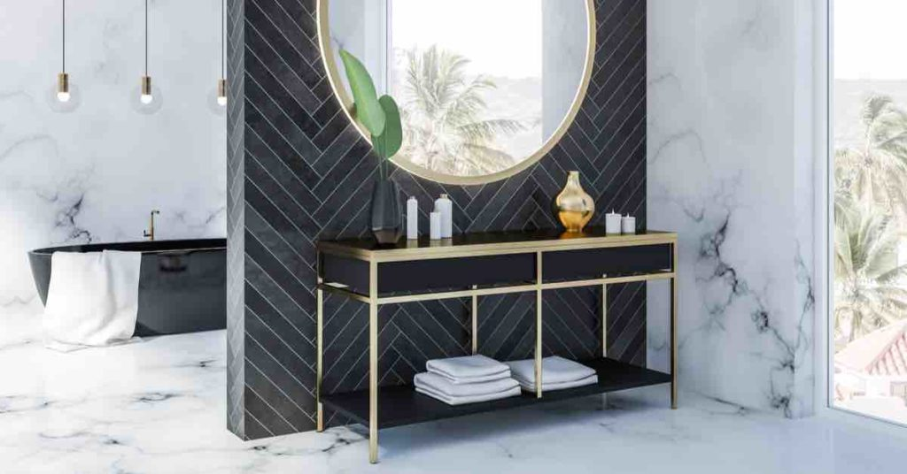 Black in bathroom: 6 Chic Focal Points